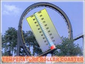 Fall Temperature Roller Coaster Ride Continues