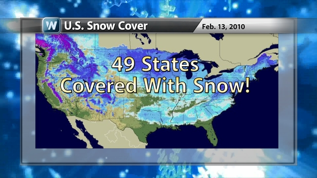 BIG Snow In Texas And Cold Nationally WeatherNation - Map of us snow cover