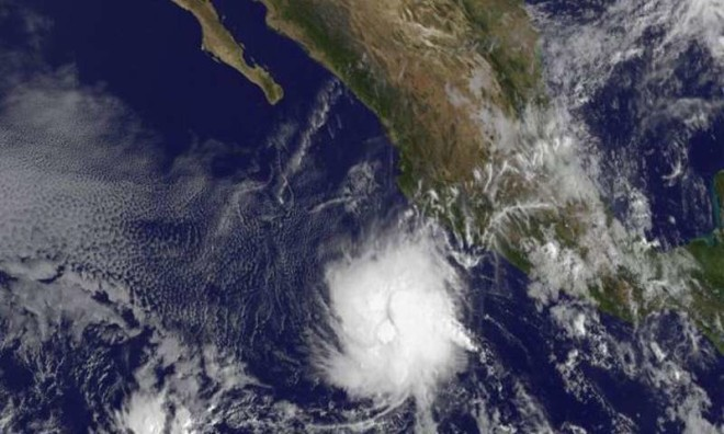 Historically Late Tropical Storm Rick Spins in Eastern Pacific
