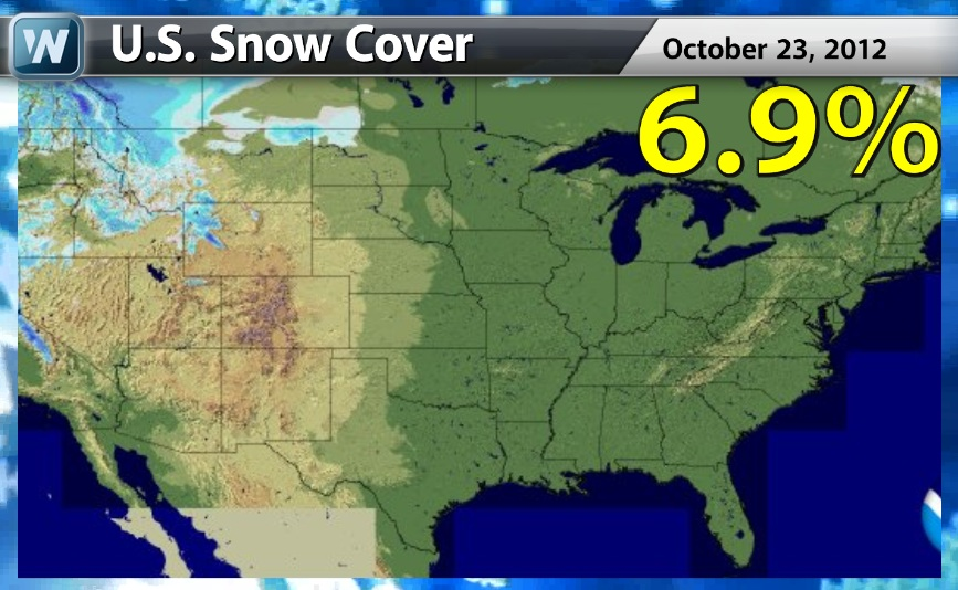 Us Snow Cover Map Corridor The Next Weeks Implying The Arctic Air