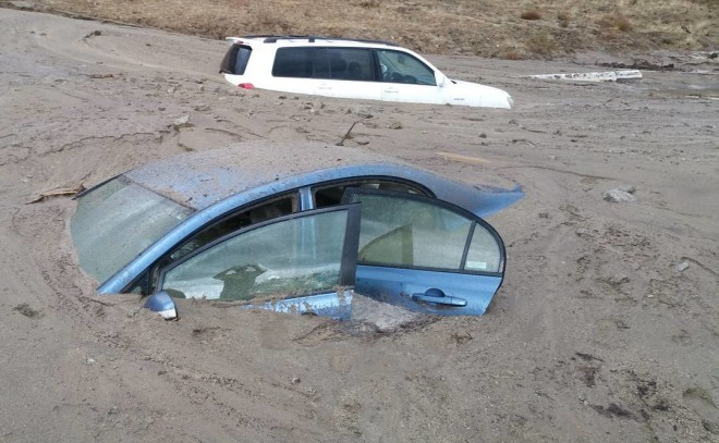 Major California Mudslides Trap Motorists on Interstate