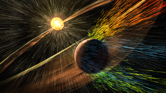 Solar Wind Stripped Mars Into Dry, Cold Planet