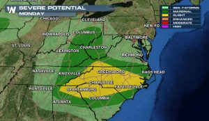 Severe Weather Continues – Monday's Potential