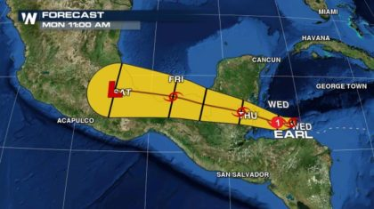 Update: Tropical Storm Earl Expected to Become Hurricane