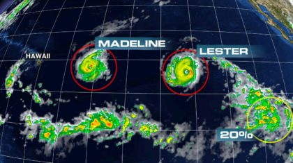 Rare Dual Hurricane Threat for Hawaii