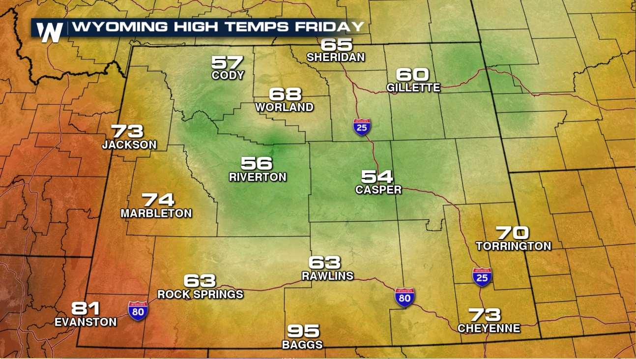 friday highs wyoming