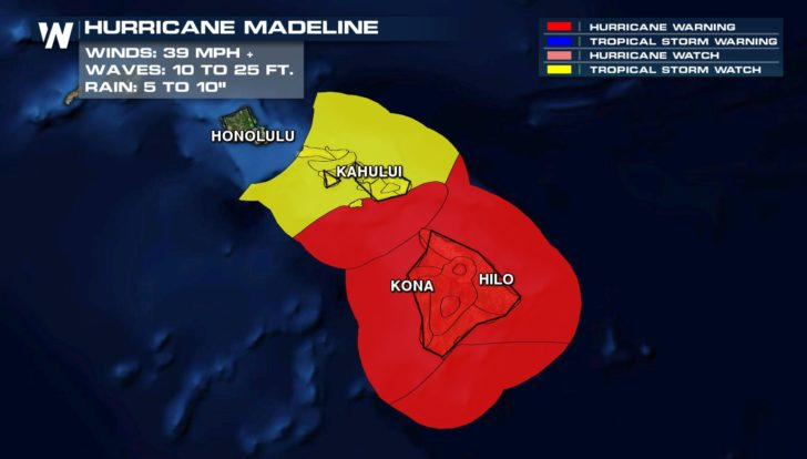 Schools, Government Close in Hawaii as Hurricane Madeline Nears