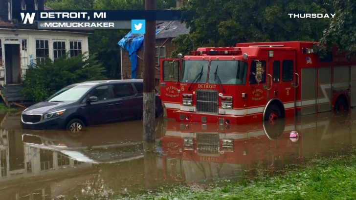 Detroit Flooding: Motor City Under Water