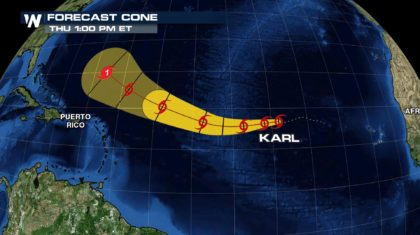 Tropical Storm Karl Could Become Fifth Hurricane in 2016 Atlantic Season