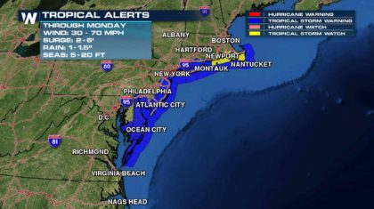 Storm Surge to Battle Mid-Atlantic Coastline
