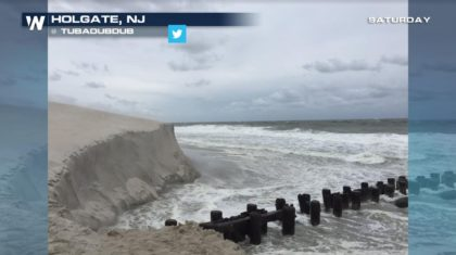Hermine's Waves Alter New Jersey Beach