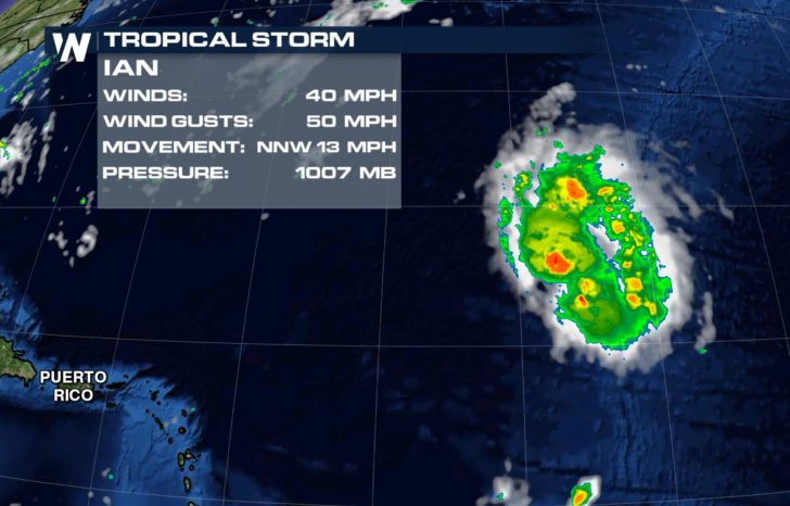 Tropical Storm Ian Forms in Atlantic; No Threat to Land