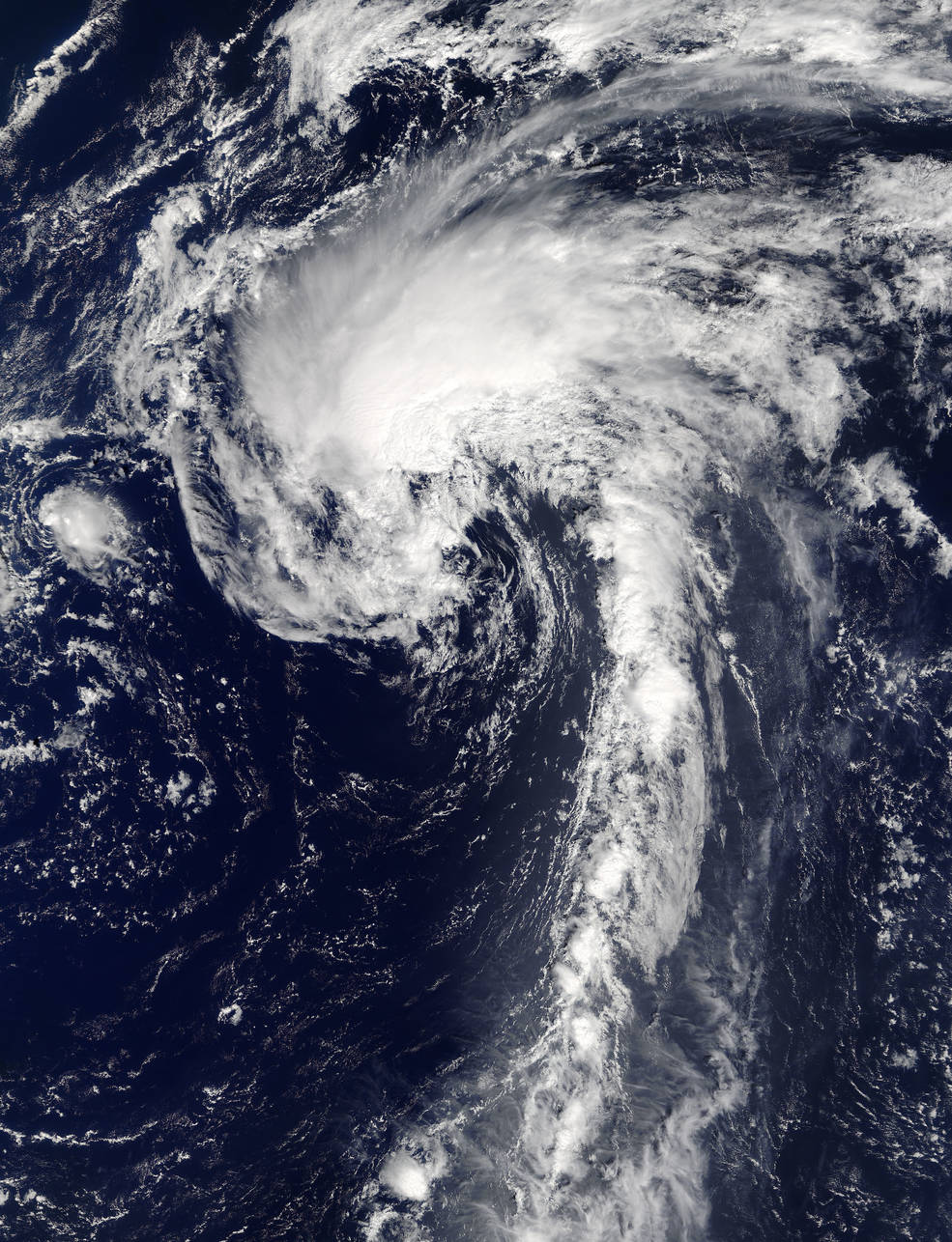 (Image: NASA's Terra satellite captured this visible image of Tropical Storm Ian on Sept. 14 at 10:15 a.m. EDT (14:15 UTC) as it continued to move through the northern Atlantic Ocean. Credits: NASA Goddard MODIS Rapid Response Team)