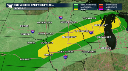 Flash Flooding and Severe Weather Threatens Midwest Overnight