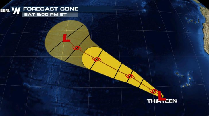 Tropical Depression 13 Forms, Likely to Stay out to Sea