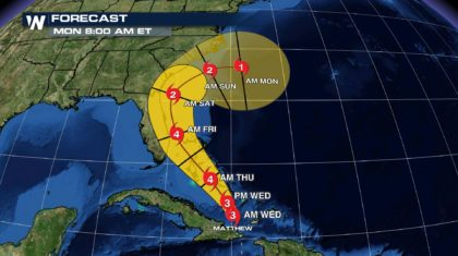 Hurricane Matthew: The Cone of Uncertainty