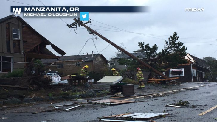Rare Confirmed Tornadoes Hit Oregon on Friday