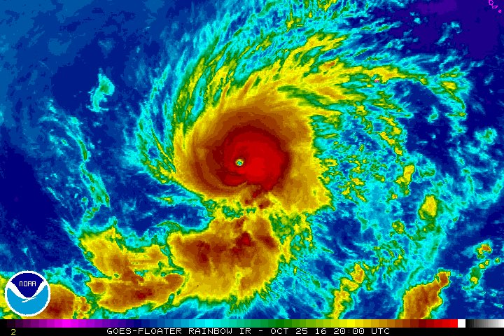 Hurricane Seymour Continues to Strengthen