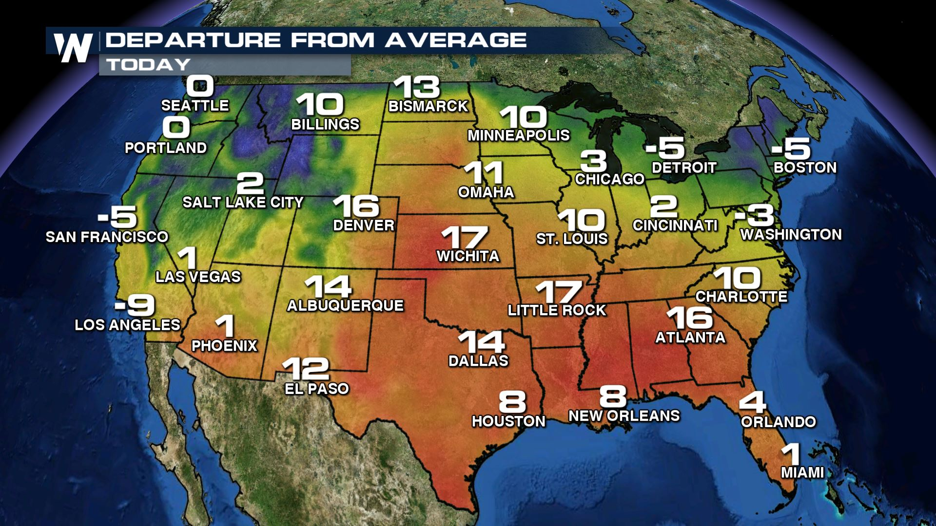 Trick Or Treat Halloween Heat Weathernation Map Of Us High Temperatures