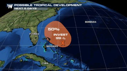 Invest 99L Creating Life-Threatening Flash Flooding and Mud Slides