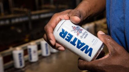 Anheuser-Busch Sends Over 700K Cans of Water to Hurricane Matthew Relief