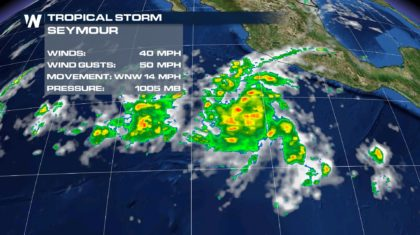 Tropical Storm Seymour Develops in Eastern Pacific