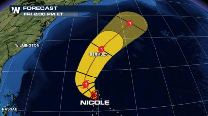 Hurricane Watches Issued for Bermuda as Nicole Nears