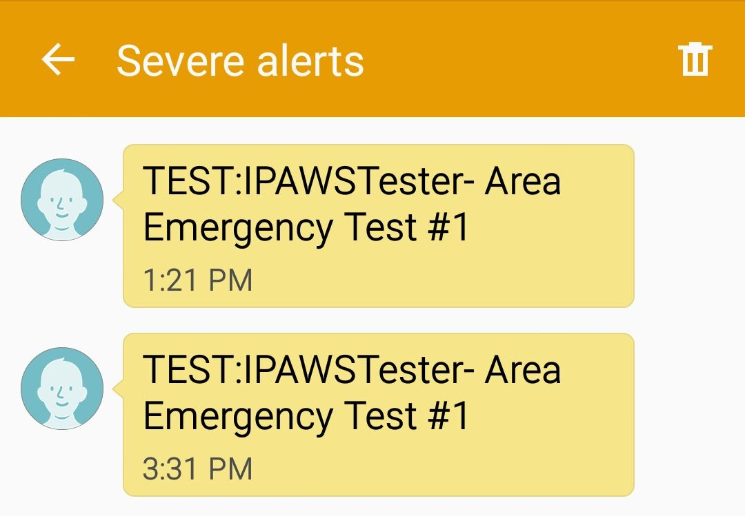 Cellphone Customers Bombarded with Test Emergency Alerts