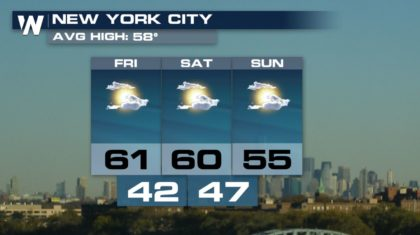 Almost Ideal New York City Marathon Weather Sunday