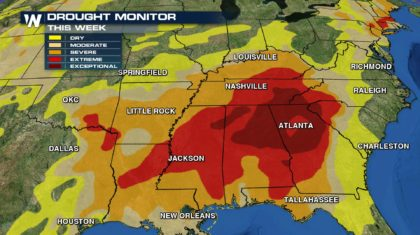 Drought-Stricken Southeast May Finally See Rain