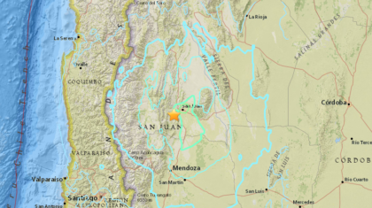 6.4 Magnitude Earthquake Hits Western Argentina