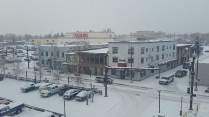 It's Snowing! (In Fairbanks, Alaska)
