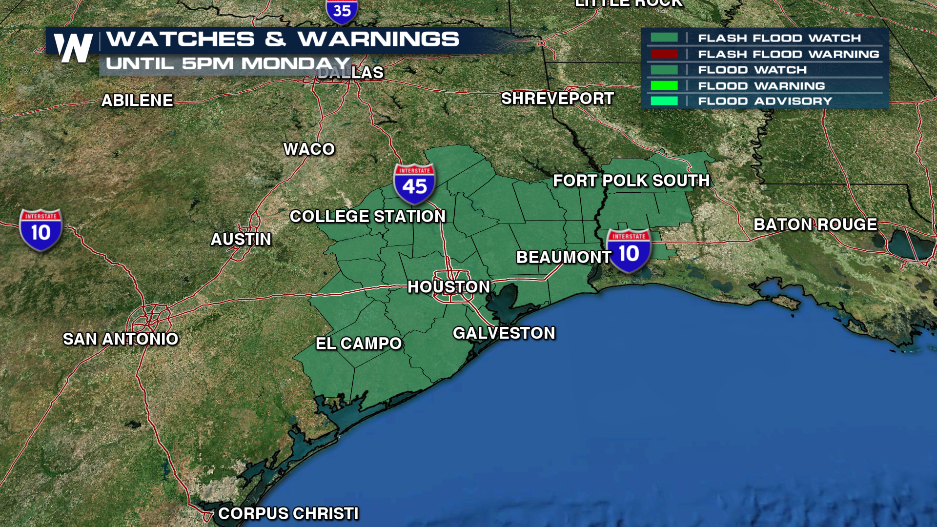 1 Flooding rains possible for South eastern Texas