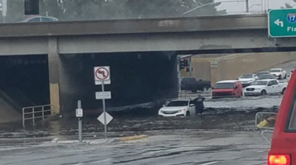 Heavy Rain Causes Flooding in Phoenix Metro