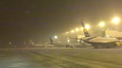 Frontier Airlines Apologizes for Snow Related Weekend Travel Woes