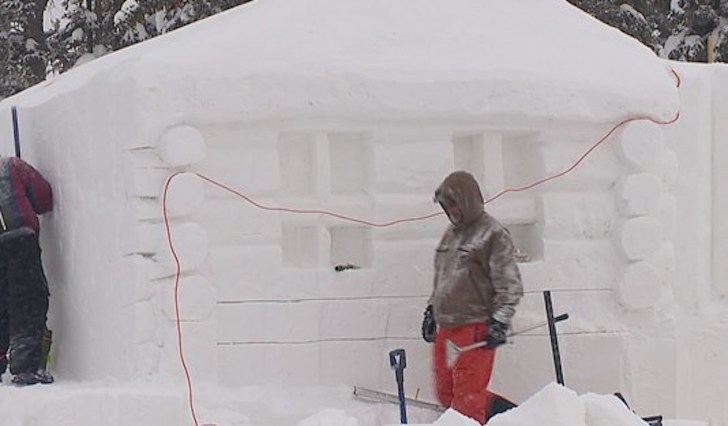 WATCH: World's Largest Snow Fort Built at Keystone Ski Resort in Colorado