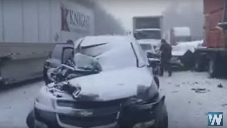 WATCH: 59 Vehicles Involved in Crash on I-80 in PA
