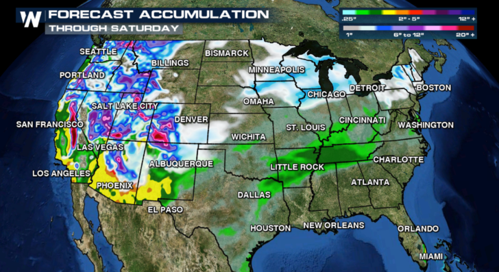 Christmas Holiday Travel Weather Forecast WeatherNation – Travel Weather Map Forecast