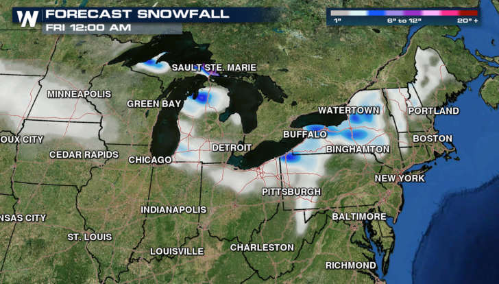 heavy lake effect snow continues around the great lakes