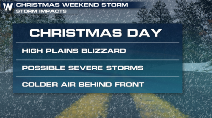Blizzard Likely in the High Plains on Christmas