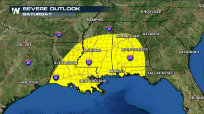 Severe Weather Returns for the Southeast