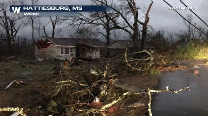 Tornado Rips Through Hattiesburg, MS in the Pre-Dawn Hours of Saturday Morning