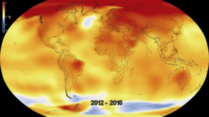 2016: Third Consecutive Year of Record Warmth for the Globe