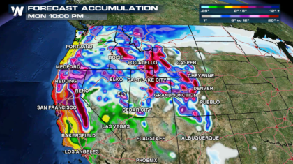 Pacific Storm - Widespread Flooding Possible in Sierra