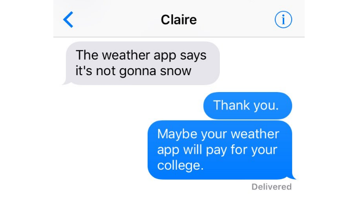 Meteorologist Dad Has Savage Response to Teen Daughter Text