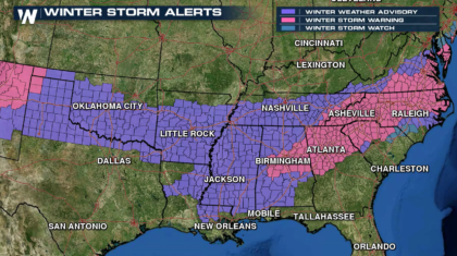 Southeast Winter Storm - State of Emergency Declared