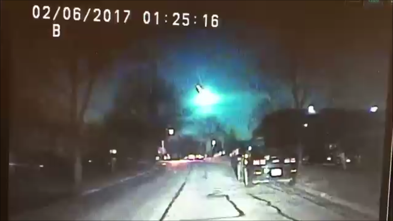 Meteor Lights Up Midwest Sky