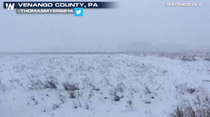 Heavy Lake Effect Snow Continues
