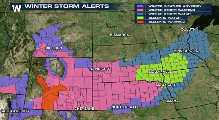 Blizzard Conditions Possible From Wyoming to Minnesota