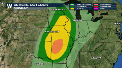 Severe Storm Return to the Midwest Monday
